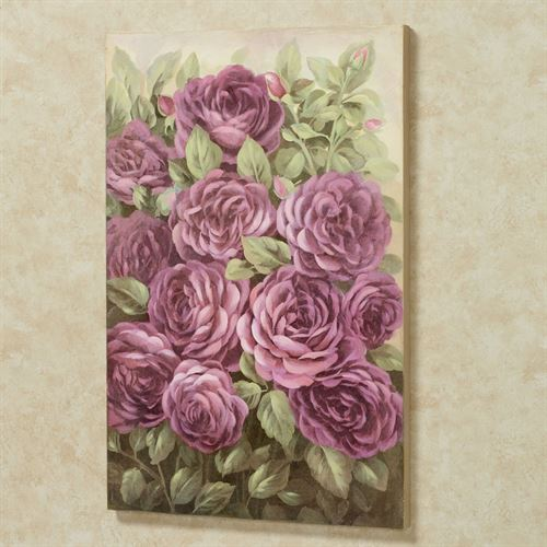 Addison Rose Canvas Wall Art Purple