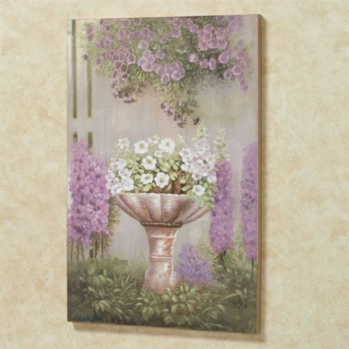 Blooming Petunias Canvas Wall Art Multi Pastel