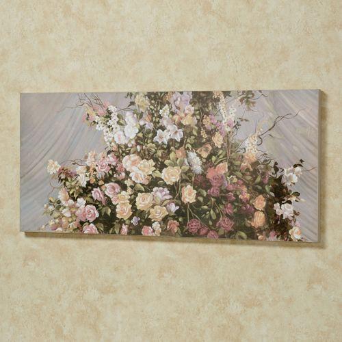 Magnificent Bouquet Canvas Wall Art Multi Pastel