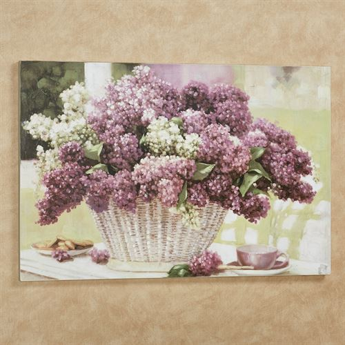 Lilac Tea Party Canvas Wall Art Purple Large