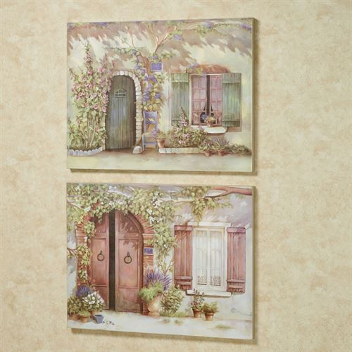 Spring Morning Canvas Wall Art Multi Warm Set of Two