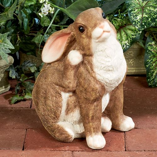 Blissful Bunny Sculpture Tawny
