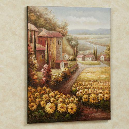 Italian Countryside Canvas Wall Art Multi Warm