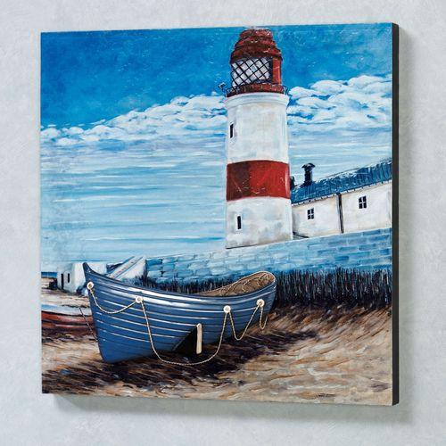 Lighthouse Wall Art Blue