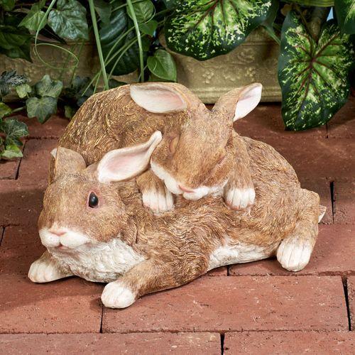 Playful Buddies Bunny Sculpture Tawny