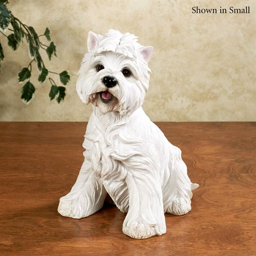 I Want a Treat Dog Sculpture White