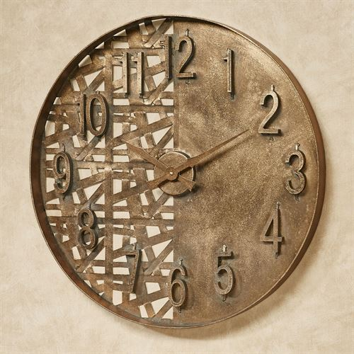 Evolution Contemporary Oversized Metal Wall Clock