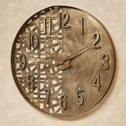 Evolution Wall Clock Dark Gold
