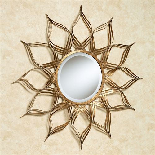 Serenity Blossom Mirrored Wall Sculpture Antique Gold