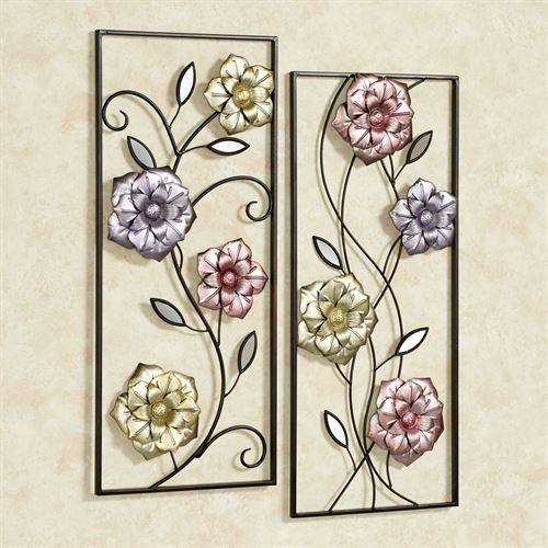 Glorious Summer Wall Art Panels Multi Jewel Set of Two
