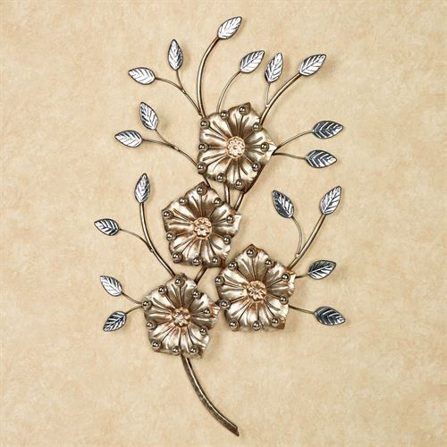 Cadwell Flower Wall Art Champagne Gold