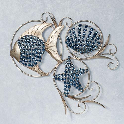 Ocean Gems Wall Art Platinum