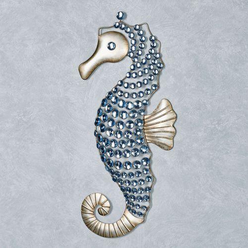 Seahorse Gems Wall Art Platinum