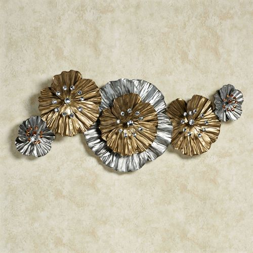 Vita Fiori Wall Sculpture Silver with Gold