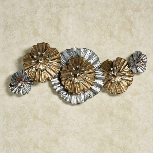 Vita Fiori Wall Sculpture Silver with Gold