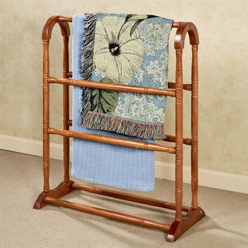 Ayden Solid Wood Blanket Rack Windsor Oak