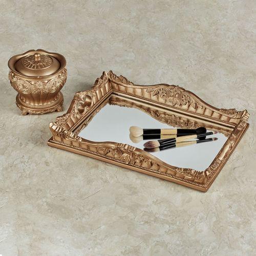 Flowering Medallion Lotion Soap Dispenser Aged Gold