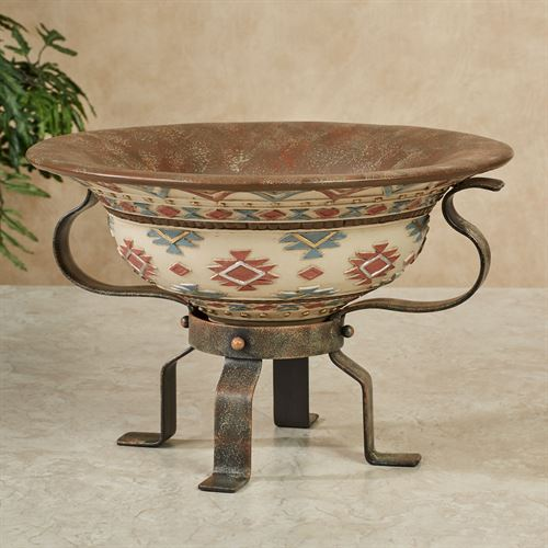 Onawa Decorative Centerpiece Bowl Brown