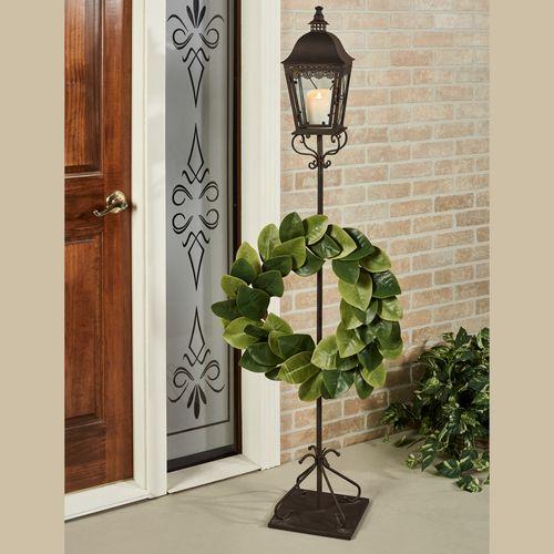 Berkley Lantern Post with Wreath Hook Antique Bronze