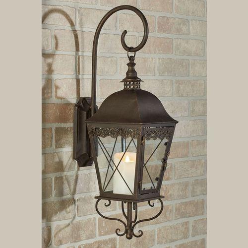 Berkley Wall Candleholder Lantern Antique Bronze