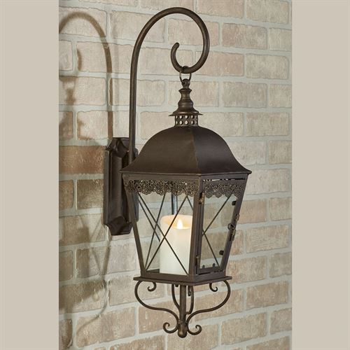 Berkley Wall Candleholder Lantern Antique Bronze