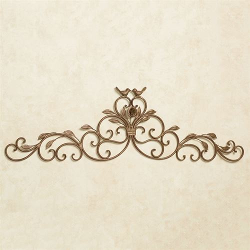 Wings of Love Wall Topper Satin Gold