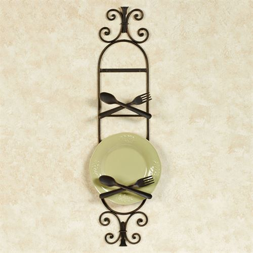 Bon Appetit Plate Rack Antique Bronze Two Plate