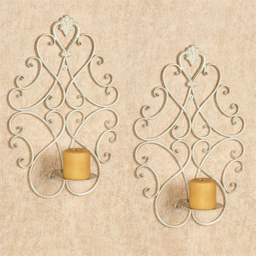 Aldabella Wall Sconces Creamy Gold Pair