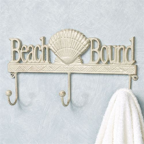 Beach Bound Wall Hook Rack Creamy Gold