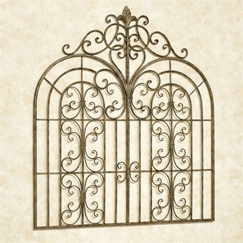 Beyond the Gates Wall Grille Antique Gold
