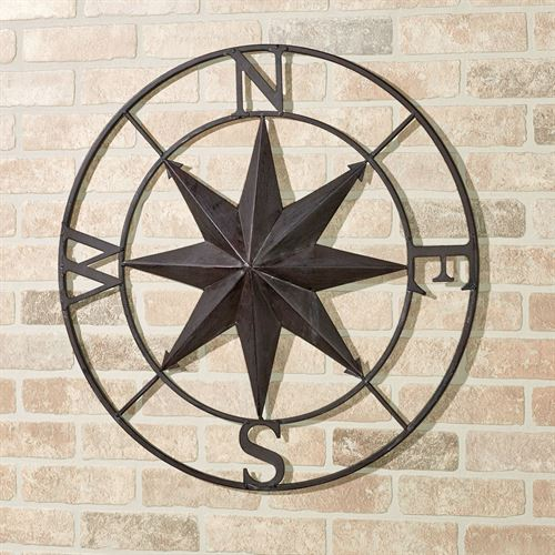 Earhart Compass Wall Art Tuscan Slate
