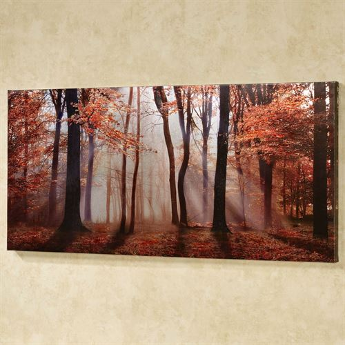 Autumns Allure Canvas Wall Art Multi Warm