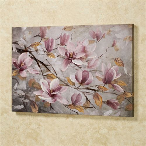 Blooming Branches Canvas Wall Art Multi Pastel
