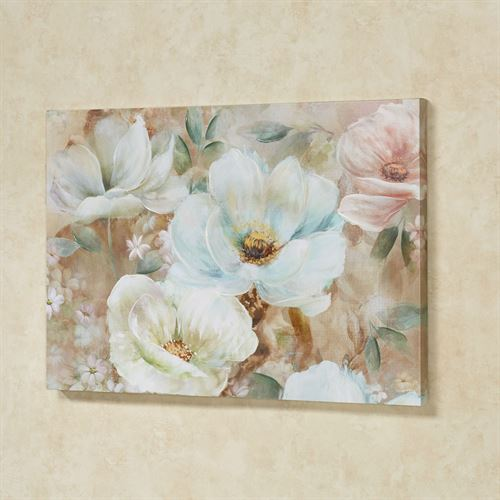 Enchanting Blooms Canvas Wall Art Multi Pastel