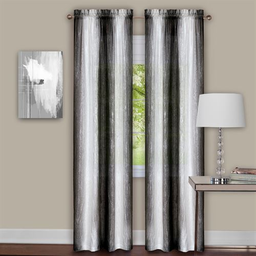 Sacada Tailored Curtain Pair Black White