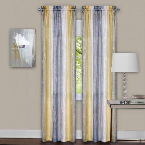 Sacada Tailored Curtain Pair Gray Yellow
