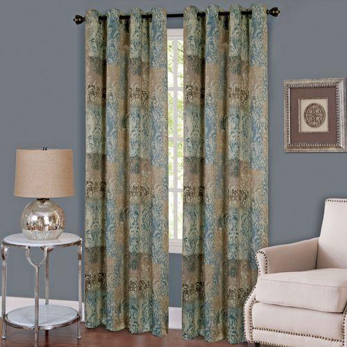 Craze Grommet Curtain Panel Dark Blue