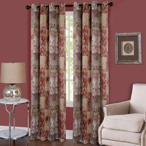 Craze Grommet Curtain Panel Rosewood