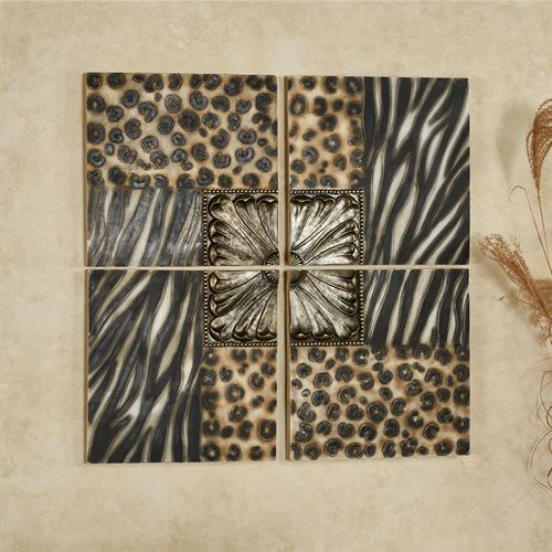 Hakkan Wall Art Multi Earth Set of Four