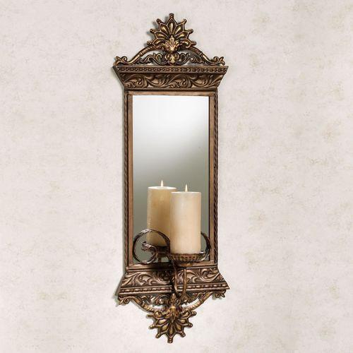 Georgiane Mirrored Metal Wall Sconce