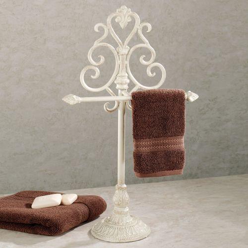 Aldabella Creamy Gold Towel Stand/Jewelry Holder
