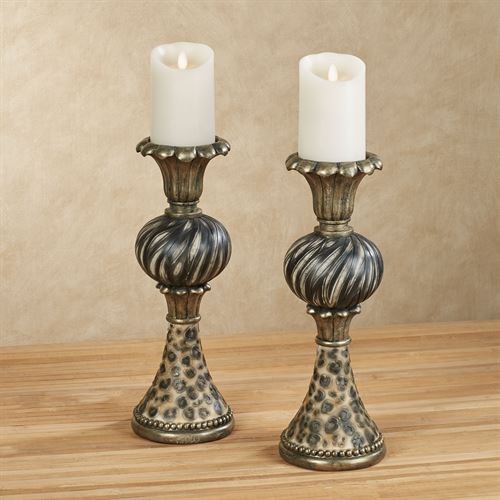 Hakkan Candleholders Multi Earth Pair