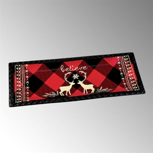 Buffalo Plaid Accent Serving Tray Multi Cool