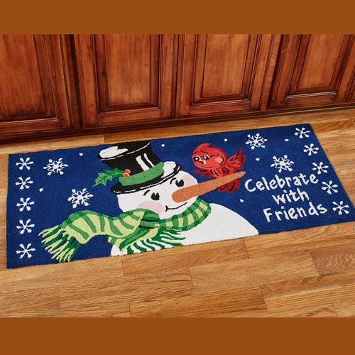 Celebrate with Friends Runner Navy 22 x 54