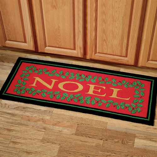Noel Holly Rug Runner Red 22 x 54