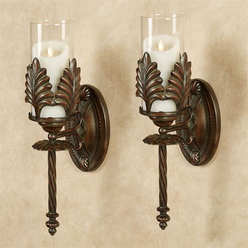 Emmerson Wall Sconces Bronze Pair