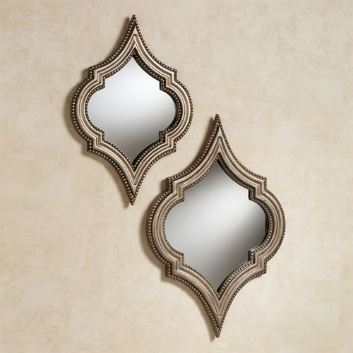 Sanjaya Wall Mirror Set Champagne Gold Set of Two