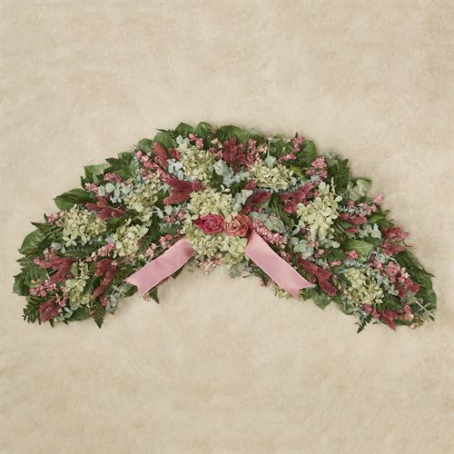 Pinking of You Floral Arch Wall Swag Multi Pastel