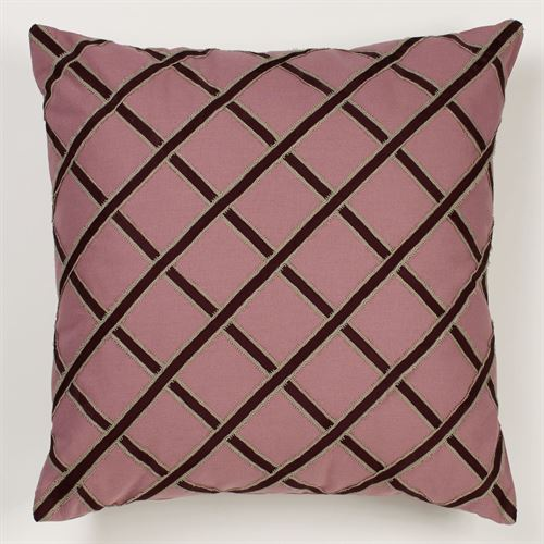 Cherish Tailored Pillow Rose 22 Square