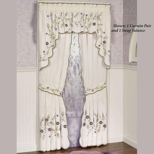 Blossom Swag Valance Lavender 72 x 38